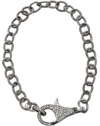 Adornia - Sterling Silver Pave Champagne Diamond Link Bracelet - 0.80 Ctw - Lyst