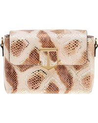 Time's Arrow - Orion Snake Skin Embossed Crossbody - Lyst
