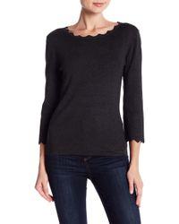 Philosophy Apparel - Scallop 3/4 Sleeve Sweater - Lyst