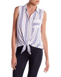 Beach Lunch Lounge - Janera Sleeveless Tie Shirt - Lyst
