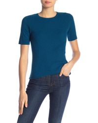 In Cashmere - Ribbed Cashmere Crew Neck Sweater - Lyst