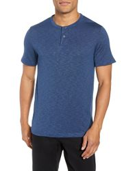 Theory - Gaskell Anemone Slim Fit Henley - Lyst