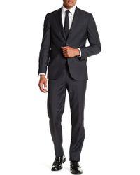 Ted Baker - Jarret Solid Grey Sharkskin Suit - Lyst