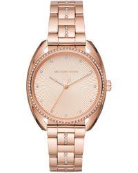 MICHAEL Michael Kors - Women's Libby Rose Gold Bracelet Watch, 38mm - Lyst