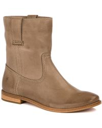 Frye | Anna Leather Short Boot | Lyst