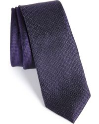 Calibrate - Kenton Textured Silk Blend Skinny Tie - Lyst