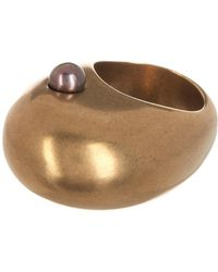 Tomas Maier - Brass Freshwater Pearl Dome Ring - Lyst