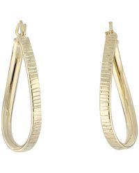 Bony Levy - 14k Yellow Gold Twisted Oval Hoop Earrings - Lyst