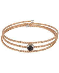 Alor - 14k White Gold & Black Onyx Triple Wrap Cable Coil Bracelet - Lyst