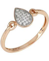 Bony Levy - 18k Rose Gold Diamond Pear Shape Ring - 0.08 Ctw - Lyst