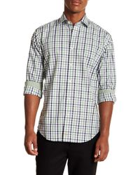 Thomas Dean - Shadow Chequered Long Sleeve Sport Fit Shirt - Lyst