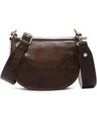 Frye - Melissa Whipstitch Mini Leather Saddle Bag - Lyst