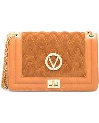 Valentino By Mario Valentino - Alice Quilted Suede & Leather Shoulder Bag - Lyst