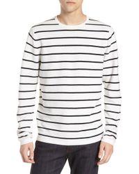 Calibrate - Stripe Crewneck Sweater - Lyst