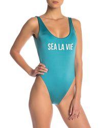 The Bikini Lab - High Leg One-piece Swimsuit - Lyst