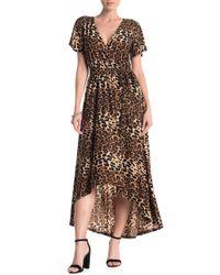West Kei - Jaguar Print Hi-lo Dress - Lyst