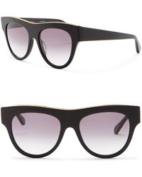 6849b5effd42 Lyst - Chanel Black Silver Tone Chain Glasses in Metallic