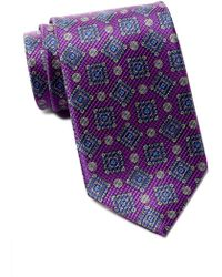 David Donahue - Medallion Silk Tie - Lyst