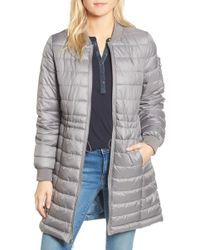 Kenneth Cole - Quilted Bomber Jacket - Lyst