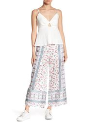 Endless Rose - Printed Wide Leg Trousers - Lyst