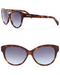 Just Cavalli - Modified Cat Eye 57mm Plastic Sunglasses - Lyst