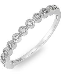 Bony Levy - 18k White Gold Bezel Set Diamond Stackable Ring - 0.20 Ctw - Lyst