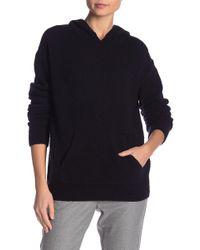 Vince - Wool Blend Pullover Hoodie - Lyst
