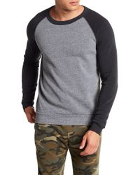 Alternative Apparel - Colorblock Raglan Fleece Pullover - Lyst