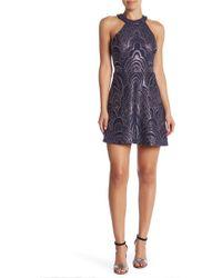 1a54f95bb01 Lyst - Jump High-neck Glitter Pattern Long Dress in Black