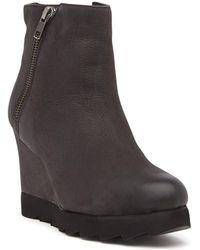 Callisto - Kairra Leather Wedge Bootie - Lyst