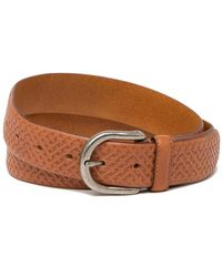 Tommy Bahama - Embossed Weave Leather Belt - Lyst