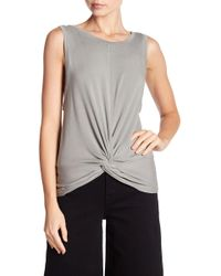 Mustard Seed - Twist Front Topstitched Tank Top - Lyst