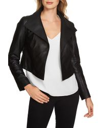 1.STATE - Crop Faux Leather Jacket - Lyst