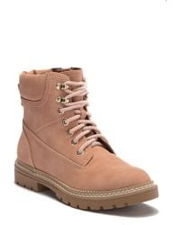 Steve Madden - Acorn Lace-up Faux Fur Lined Boot - Lyst
