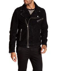 Lamarque - Washed Nubuck Moto Jacket - Lyst