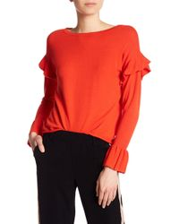 Dex - Ruffle Sleeve Sweater - Lyst