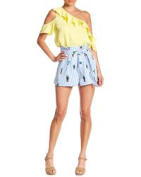 Do+Be Collection - Cactus Patterned Stripe Shorts - Lyst