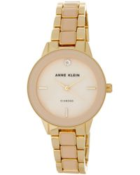 Anne Klein - Women's Diamond Dial Bracelet Watch - Lyst