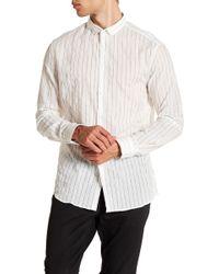 John Varvatos - Stripe Slim Fit Shirt - Lyst