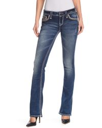 Rock Revival - Topstitched Boot Cut Jeans - Lyst