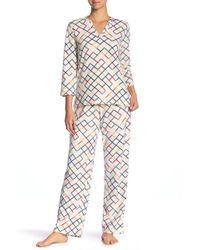 Maidenform - Fleece Pajama Set - Lyst