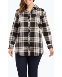 Foxcroft - Faith Plaid Shirt (plus Size) - Lyst