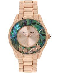 Betsey Johnson - Women's To The Moon Analog Quartz Bracelet Watch, 40mm - Lyst