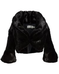 Eliza J - Faux Fur Jacket - Lyst
