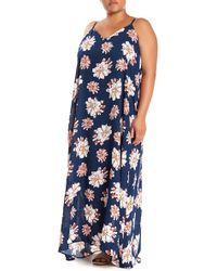 010ad831698 West Kei - Printed Gauze V-neck Maxi Dress (plus Size) - Lyst