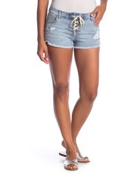 Billabong - Lite Hearted Lace-up Distressed Shorts - Lyst