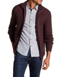Dockers - Mock Neck Full Zip Sweater - Lyst