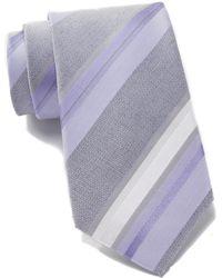 Kenneth Cole Reaction - Ethan Silk Blend Stripe Tie - Lyst