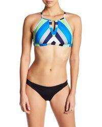 Jantzen & Jag Swimwear - Holiday Knits Stripe High Neck Top - Lyst
