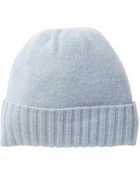 989c9ed8bd8 Portolano - Cashmere Wide Rib Cuff Hat - Lyst
